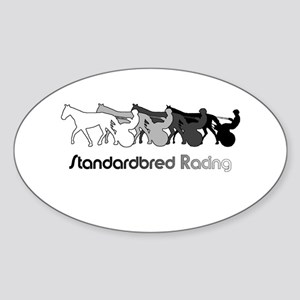Racing Silhouette Oval Sticker